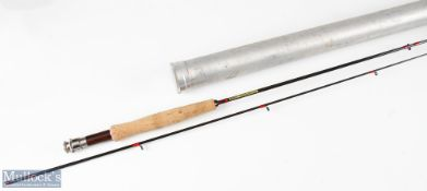 Grey's Northumbrian brook rod 7ft 2pc 3/4 line, good used condition, in cloth bag and alloy tube