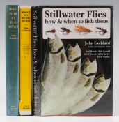 """Goddard, John - 3x Fishing Books on Flies – """"Trout Fly Recognition"""" 1966 1st edition, """"Trout Flies"""