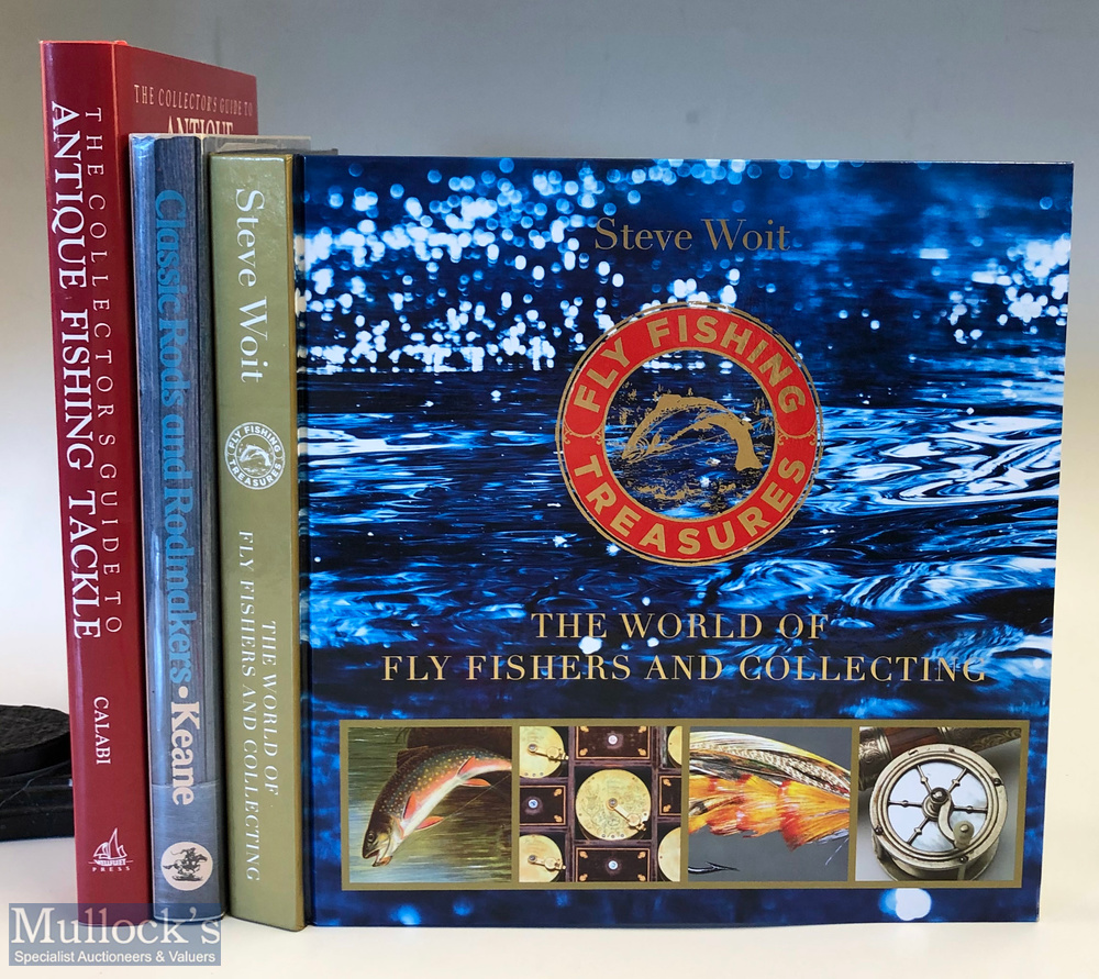 Fishing reference/collecting books featuring Steve Woit (Signed) The World of Fly Fishers and