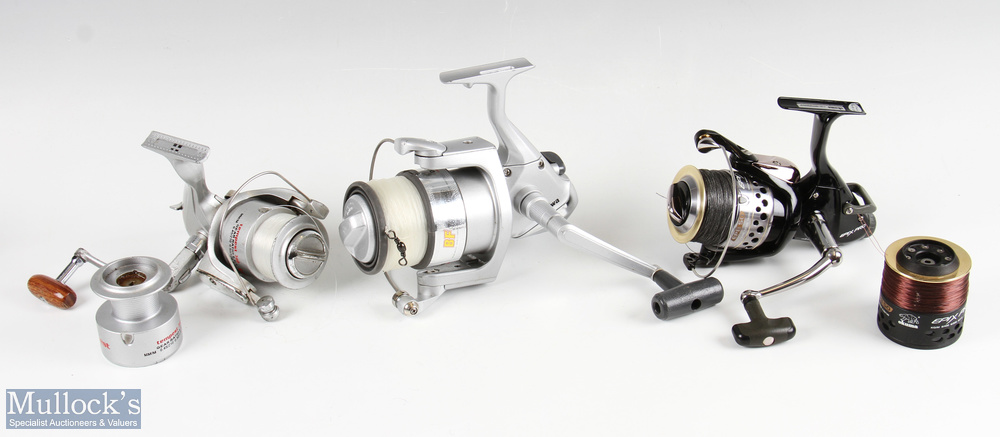 Okuma Epix Pro spinning reel and spare spool appears in almost unused condition, together with a