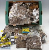 Large Quantity of Fly Tying Feathers and Materials incl woodcock, snipe, widgeon, blue jay, clare'