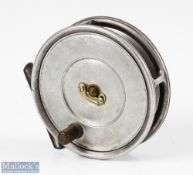 "Hardy Bros England Uniqua 3 5/8"" alloy fly reel stamped TA (Thomas Appleby 1920-1947) internally,"