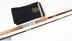 Hardy Fibalite spinning rod No 2 10ft 2pc with soiled handle, in short cloth bag