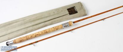 Hardy 'The Wanless' split cane spinning rod 7ft 2pc 7/8 lb, in MCB