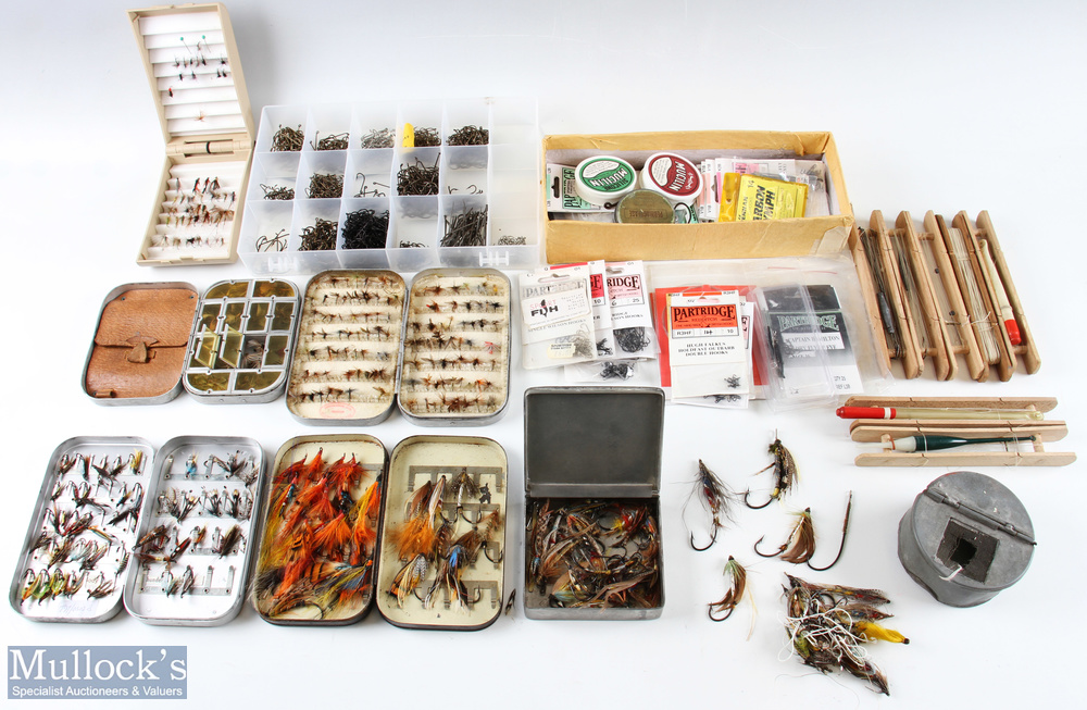 Large Mixed Selection of Flies, Fly Tying Materials and Accessories to include 10 assorted fly