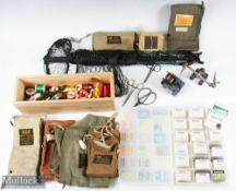 Quantity of Mixed Fly Tying Materials, Hooks and Rod Bags incl fly tying vice, thread and wool,