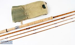 Hardy Bros 'The Wye' Palakona salmon fly rod 12ft 6ins 3pc plus extra top, line 9, in MCB, with