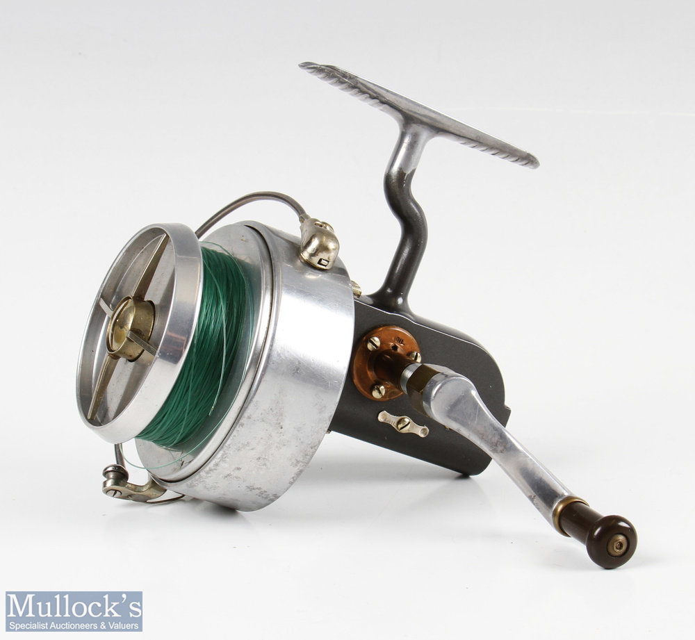Hardy Bros Altex No3 Mk V fixed spool reel with folding handle, Brit Pat end plate, on/off check, - Image 2 of 3