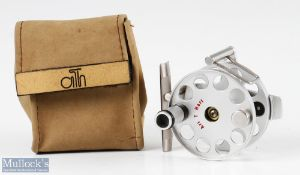 Fine Ari't Hart Mach 0 trout fly reel with swing arm line guide, counter balance weight, appears