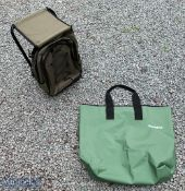 Snowbee Ruck-Seat in green with 2 zipped compartments and carry straps, together with a Snowbee