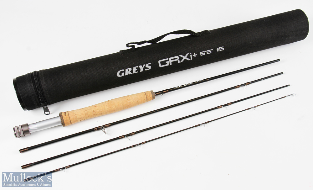 Greys GRX+ brook rod 6ft 6ins 4pc line No 5, very lightly used, in maker's cordura tube