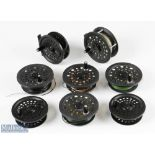 """Shakespeare 2755 Graflite 3 ½"""" fly reel and 4x spare spools with annular line guide, in black"""