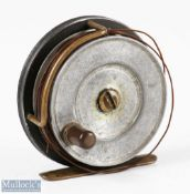 """Hardy Bros England 3"""" Sunbeam alloy fly reel smooth foot, Bickerdyke line guide, constant check,"""