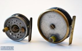 Fosters Ashbourne and Wallace & Kerr Edinburgh alloy fly reels (2) Neat little Fosters Ashbourne 2.