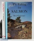 """2x Graesser, Neil – """"Fly Fishing for Salmon"""" 1982 1st edition and """"Salmon"""" 1991 1st edition, both in"""