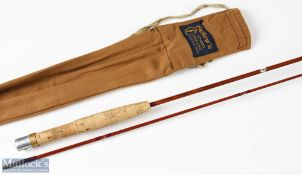 Farlow's 'The Midge' split cane rod 6ft 2pc 1 7/8oz suction joint, in MCB, light use