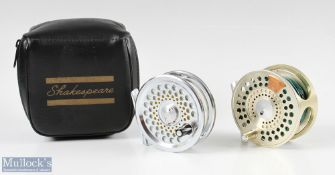 """Marryat MR 8.5A 3 1/8"""" fly reel with M counter balance plate, Champagne finish together with"""