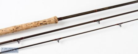 Daiwa made in Gt Britain Boron 'The Spey' salmon fly rod 12ft 3pc, line 8/10 in cloth bag