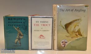"""3x Fishing Books – Bennett, Tiny """"The Art of Angling"""" 1970 with illustrations, signed by author to"""