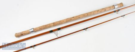 Chapman 550 10ft cane carp rod 3pc with denim makers bag – G overall