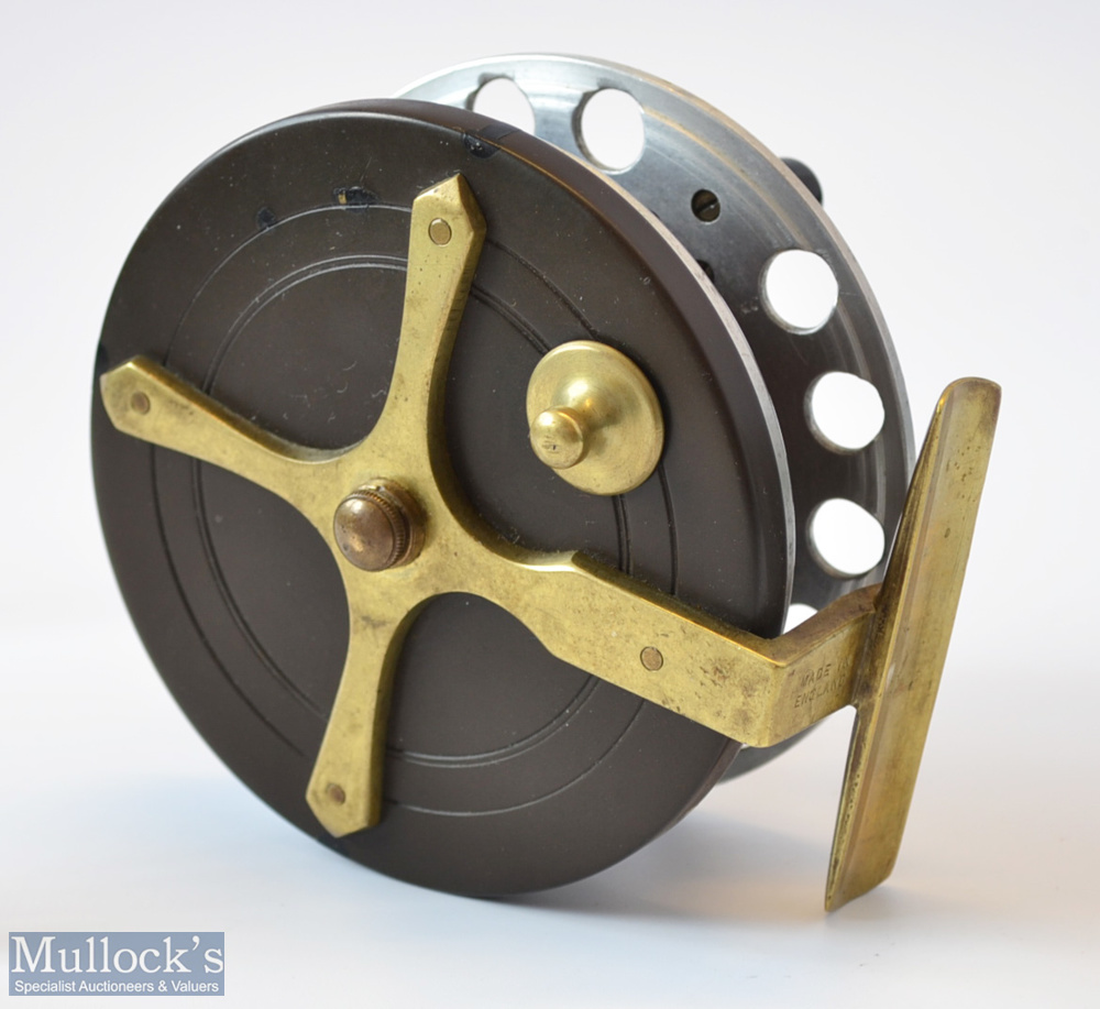 "Scarce Milward Bartleet ""Marston Crossle Patent"" 4"" alloy, ebonite and brass star back combination - Image 2 of 2"