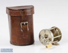 """Talbot Reel & MFG Co 'Star' nickel silver bait casting reel measures 2"""" x 1 ½"""" spool width, with"""