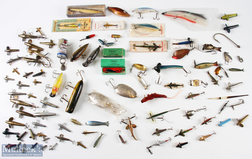 Mixed Selection of Lures, baits, spinners etc featuring Finnish Wobbler, Allcocks artificial bait,