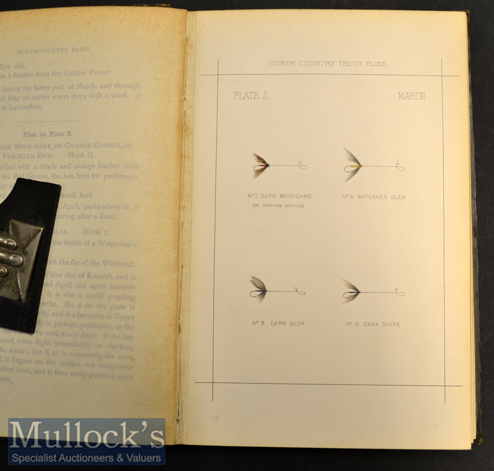 """Rare Late 19th c Book on Fishing Flies: Pritt, T E - """"North-Country Flies"""" 2nd ed 1886 publ'd - Image 2 of 2"""