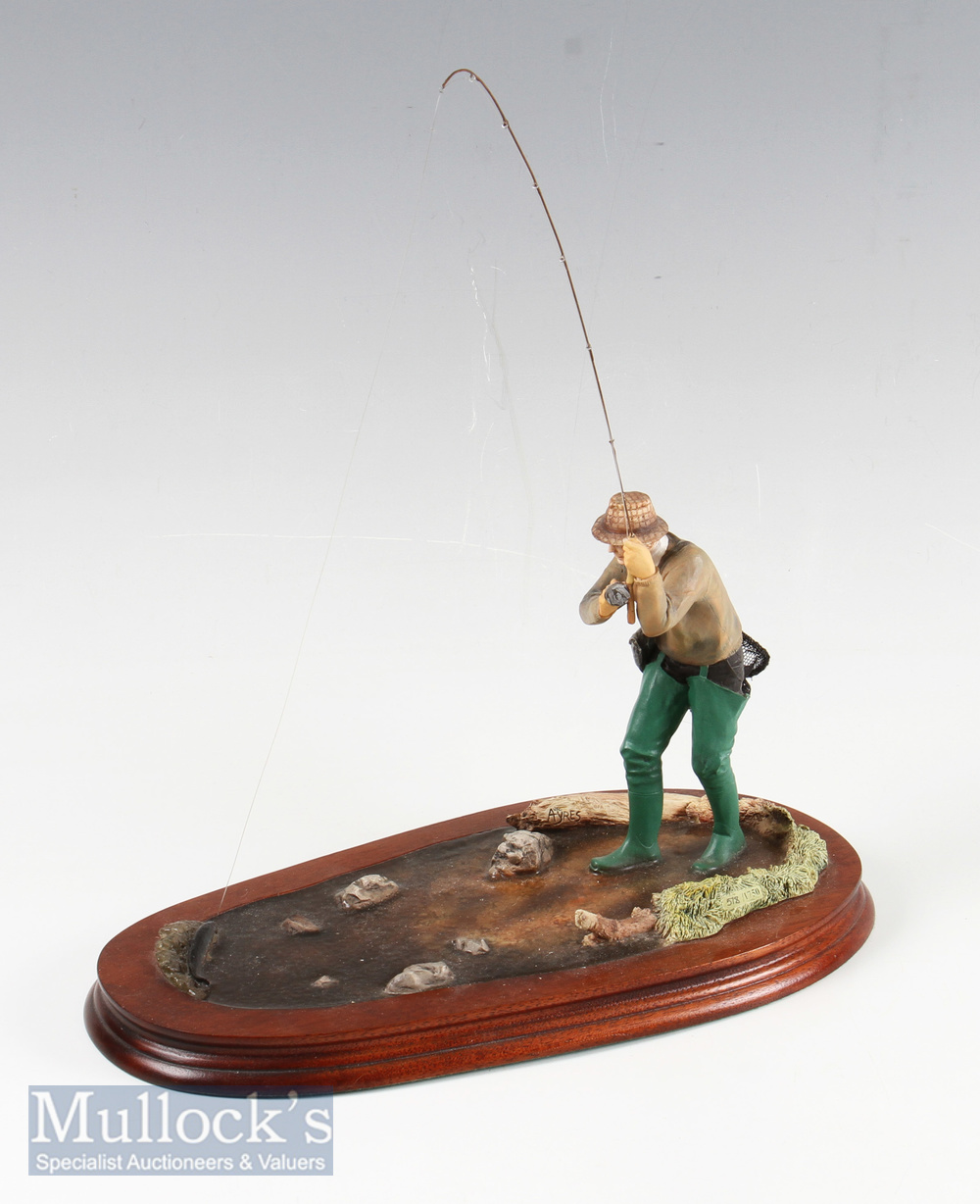 """Border Fine Arts """"Nearly There"""" Trout Fisherman model No B0254 by Ray Ayres, limited edition - Image 2 of 2"""