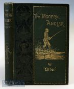"""Otter – """"The Modern Angler"""" 1898 1st edition 2nd issue, containing illustrations and adverts with"""