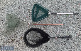 3x Assorted Landing Nets – incl DAM (West Germany) folding net of alloy tube construction with