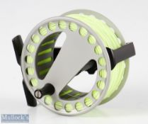 """Fine Lamson Waterworks Purist 3 1/8"""" trout fly reel marked 400908 and 2 to the foot, loaded with"""