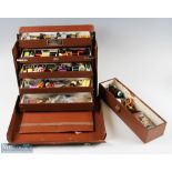 """The """"Kwiksy"""" Five Patent Leather Case folds out to reveal 5 stepped drawer compartments with"""