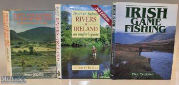 """3x Irish Fishing Books – Sheehan, Paul """"Irish Game Fishing"""" 1997 1st edition, O'Reilly, Peter """"Trout"""