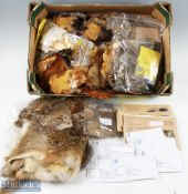 Large Quantity of Fly Tying Feathers, Capes and Furs mostly loose unbranded with a bag of smaller