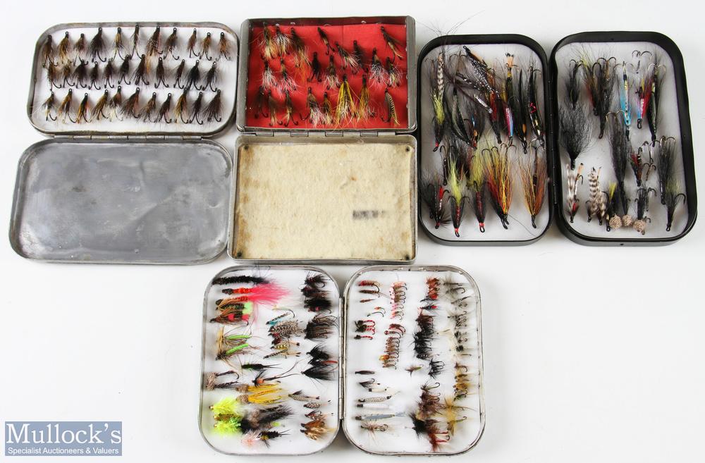 """Wheatley and Allcock Fly case/boxes featuring a black Wheatley case measuring 6""""x3 ½"""" an alloy 4 ¾"""""""