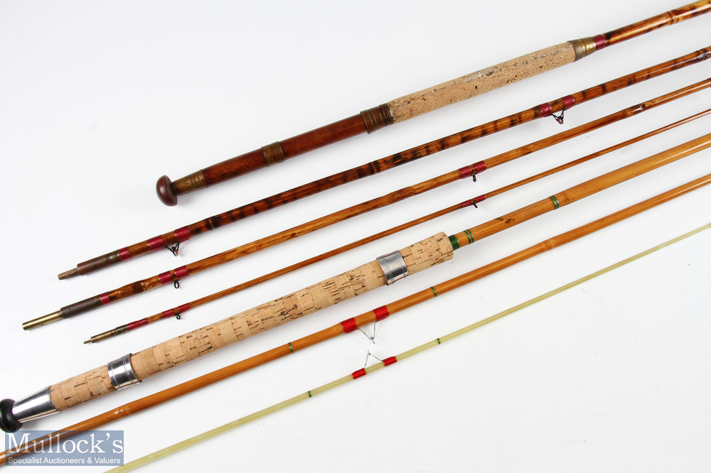 Albert Smith & Co ltd Bamboo 4 pc coarse rod restored with bag together with Palace whole cane 3pc