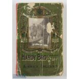 1913 Hardy Bros Anglers' Guide 40th edition green decorative covers, red spine, stepped index,