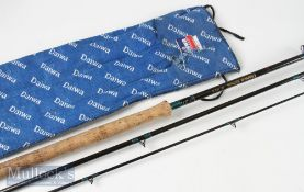 Daiwa Graphite 14ft salmon rod CF98-14 AFTMA 9-10 in makers rod bag, butt has signs of use