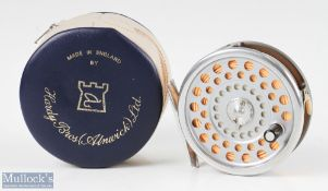 Hardy Bros England Marquis #6 alloy trout fly reel with alloy smooth foot, line guide, loaded with