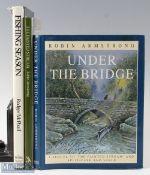 "3x Fishing Artwork Books – McPhail, Rodger ""Fishing Season"", 1990 1st edition, Armstrong, Robin """
