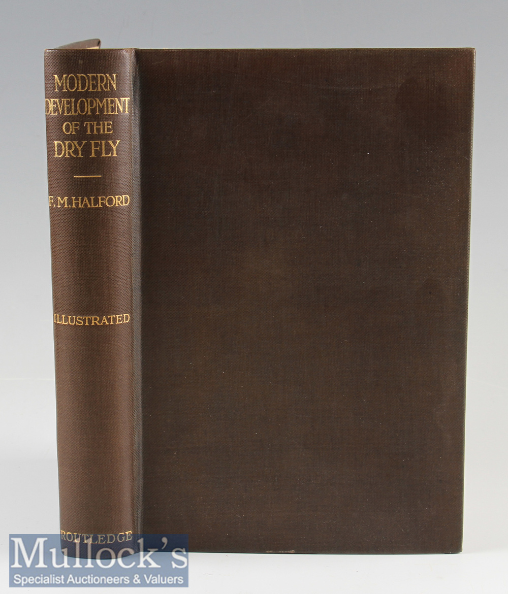 Halford, F M – Modern Development of the Dry Fly, 1923, reset of 1st edition, frontis, colour plates
