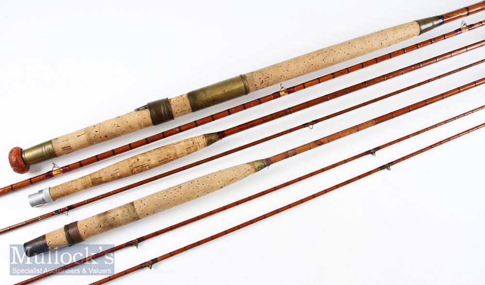 Hardy 'The Triumph' split cane fly rod 9ft 2pc, needs restoration, no bag; Hardy Split Cane Fly