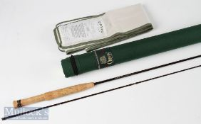 Fine Orvis Superfine carob fly rod 6ft 6ins 2pc line No 2, appears unused in MCB and cordura tube