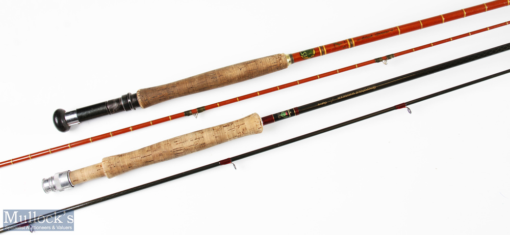 Daiwa trout special fishing rod 10ft 3ins 2pc line 7/9, soiled handle, in MCB; and Edgar Sealey