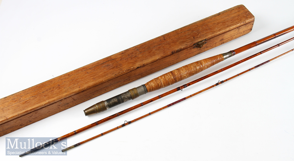Allcocks Victorian 10ft 6in split cane fly rod 3pc mid section short 5in, tip section short 7in,
