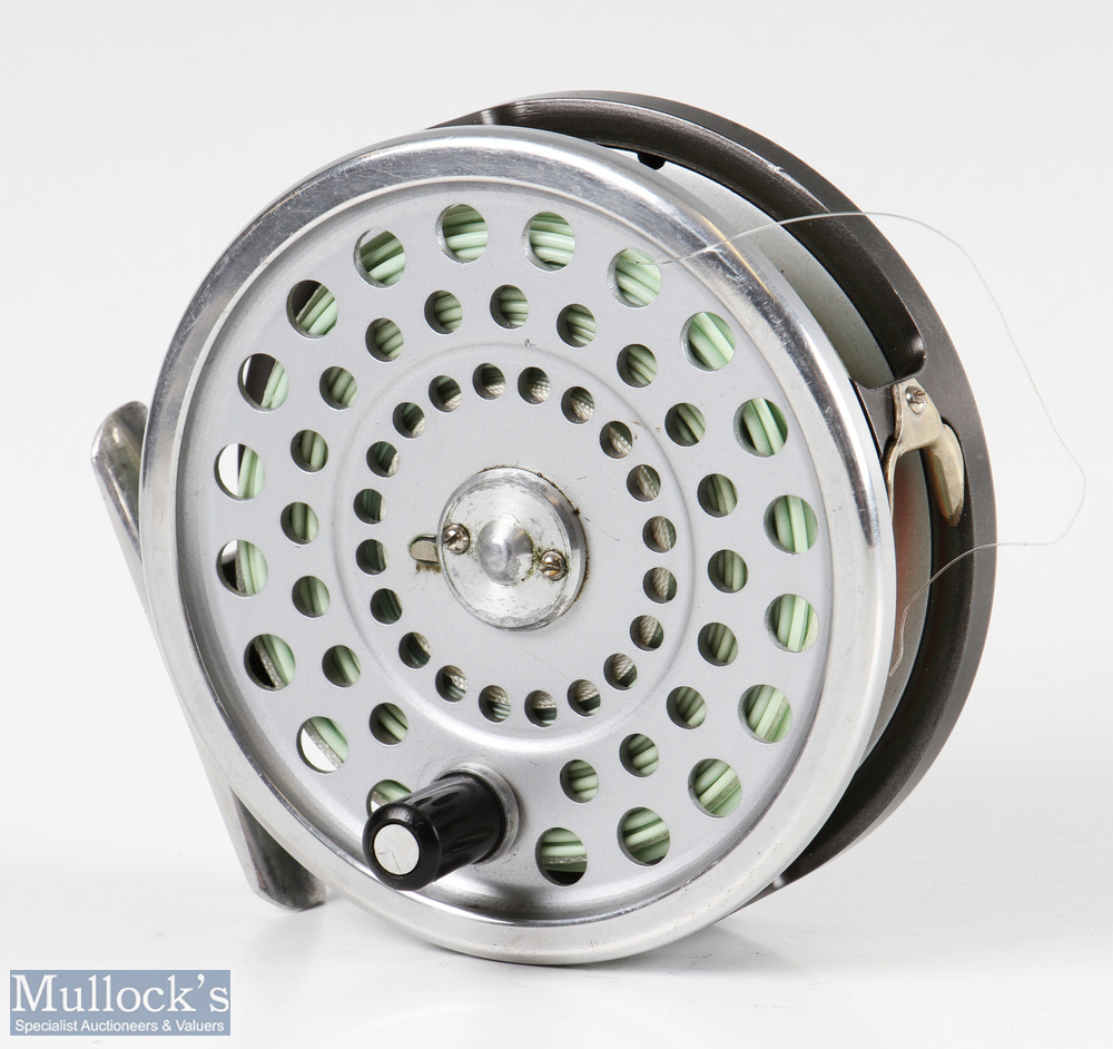 Hardy Bros England Marquis #8/9 alloy trout fly reel with smooth alloy foot, line guide, loaded with - Image 2 of 3