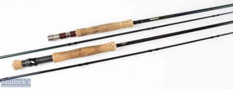 Masterline Red River 9ft 6in 2pc line 8, reel slider jammed, in MCB and alloy tube, well used; and