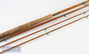 Milwards Fly Versa 12ft 10in cane rod 3pc with extra end section, no.82920 in makers original