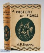 """Norman, J. R. – """"A History of Fishes"""" 1947 third edition with 9 plates and 148 test-figures, good"""